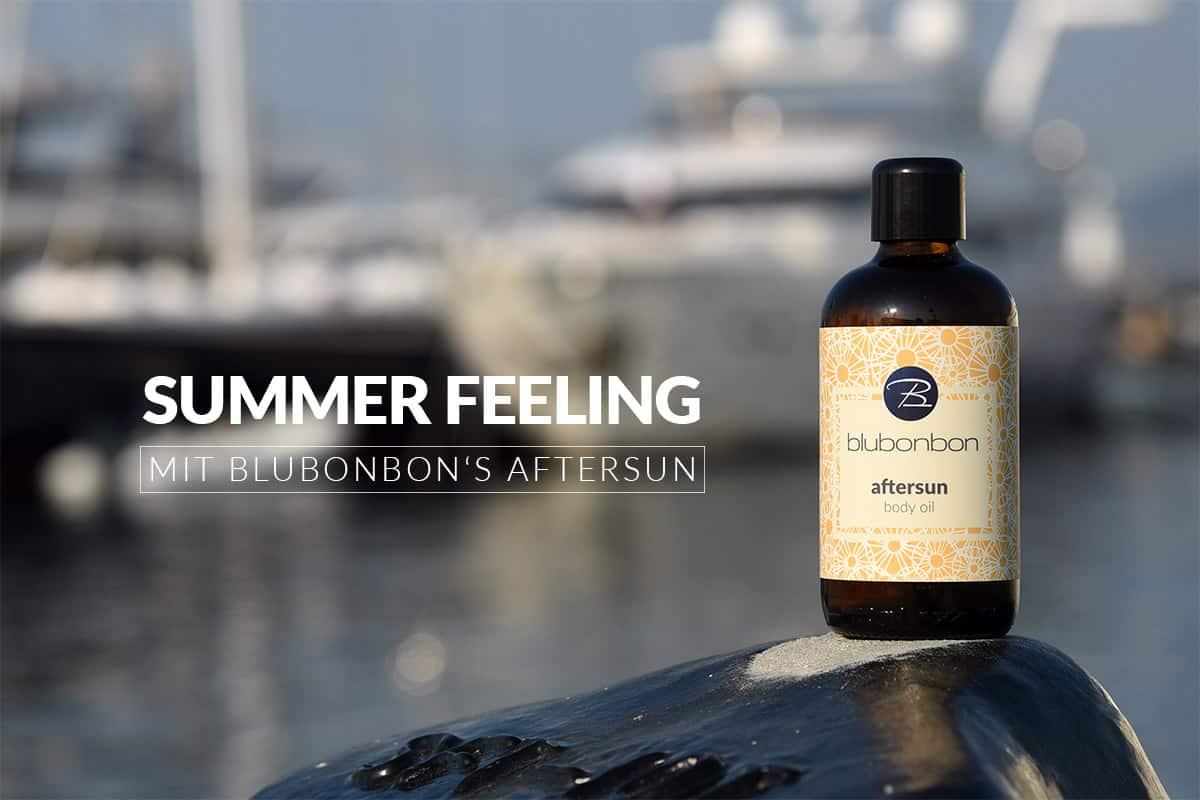 blubonbon's aftersun body oil ist ein unverzichtbarer Begleiter im Sommer